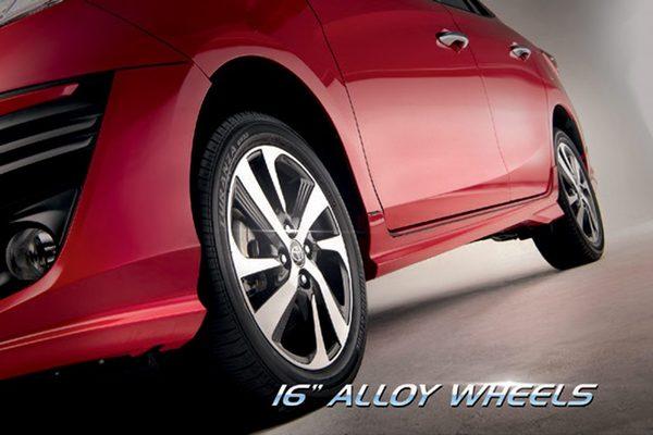16'' alloy wheels of Toyota Vios