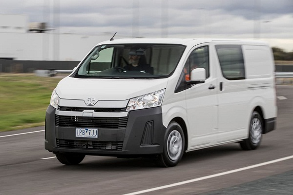 2019 Toyota Hiace on the road