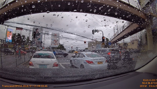 Transcend dash cam Philippines capture from recorded video