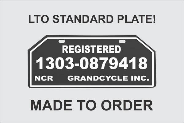 LTO Standard plate