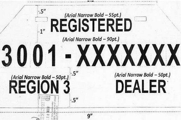 The LTO temporary plate format