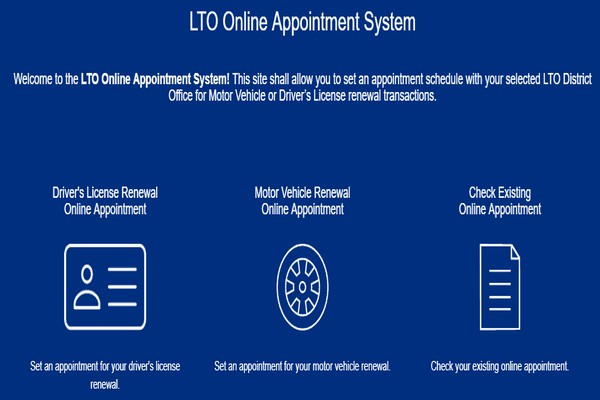 LTO online appointment system