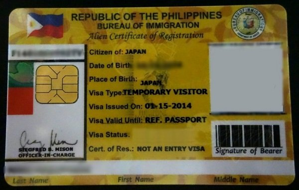 visa of foreigner in the Philippines