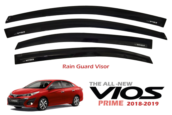 The Toyota Vios Rain Guard Window Visor