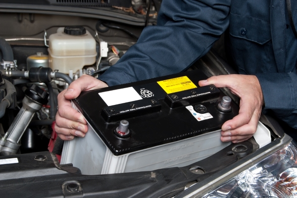 A weaken car battery