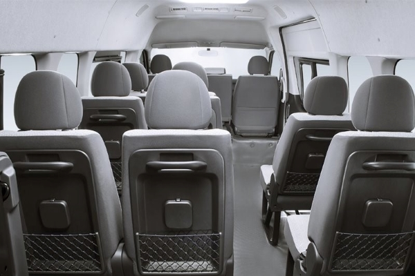 Toyota Hiace's cabin backview