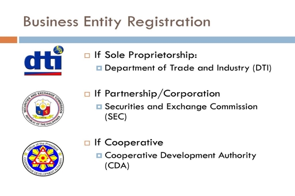 Car Business Entity Registration Philippines