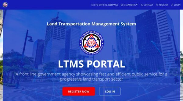 Land Transportation Management System Portal website