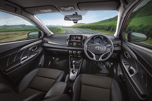 The Toyota Vios's dashboard