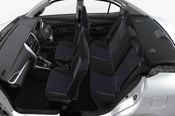 toyota vios's interior design