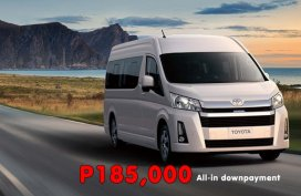 [Toyota promo] Toyota Hi-Ace Commuter Deluxe MT Promo: P185k All-in Downpayment