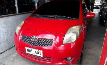 Red Toyota Yaris 2009 Automatic Gasoline for sale in Manila