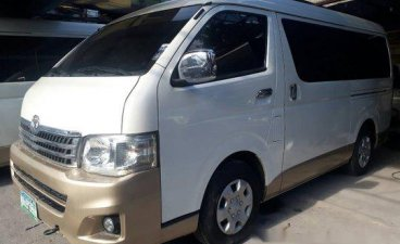 Selling White Toyota Hiace 2011 Automatic Diesel in Parañaque