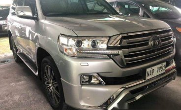 Silver Toyota Land Cruiser 2018 Automatic Diesel for sale