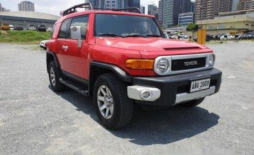 Red Toyota Fj Cruiser 2015 Automatic Gasoline for sale