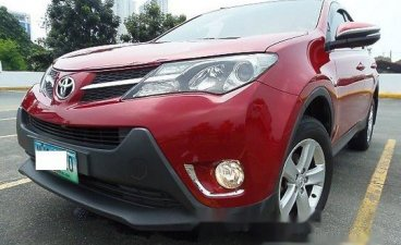 Red Toyota Rav4 2014 Automatic Gasoline for sale in Quezon City
