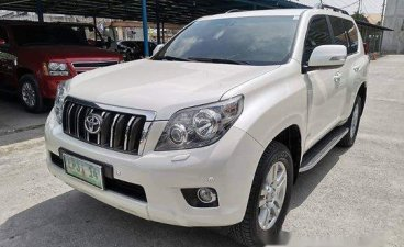 White Toyota Land cruiser prado 2010 at 60000 km for sale