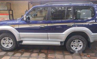 Blue Toyota Land cruiser prado 1997 at 140000 km for sale