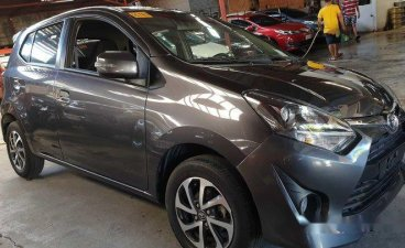 Grey Toyota Wigo 2018 Automatic Gasoline for sale