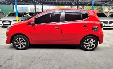 Selling Red Toyota Wigo 2018 Automatic Gasoline at 7000 km