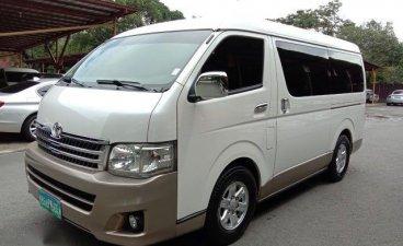 Pearl White Toyota Hiace 2013 for sale in Manila