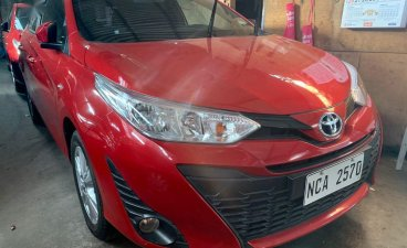 Red Toyota Yaris 2018 for sale in Quezon City