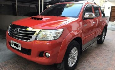 Red Toyota Hilux 2014 for sale in Automatic