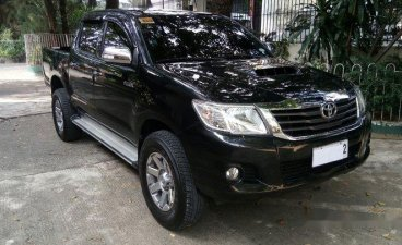 Black Toyota Hilux 2014 for sale in Quezon City