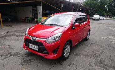 Red Toyota Wigo 2019 for sale in Manual