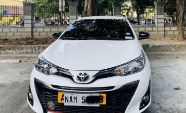 White Toyota Yaris 2018 for sale in Automatic