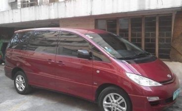 Red Toyota Previa 2004 for sale in Las Piñas