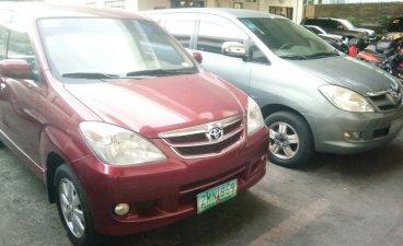 Red Toyota Avanza 2008 for sale in Manila
