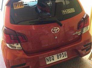 Orange Toyota Wigo 2019 Automatic for sale