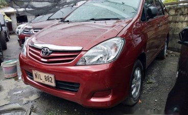 Red Toyota Innova 2009 for sale in Quezon City
