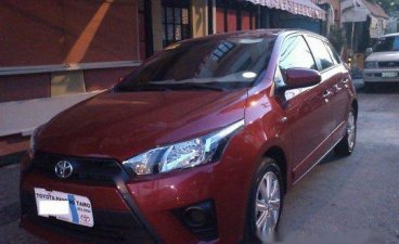 Sell Red 2015 Toyota Yaris at 44000 km
