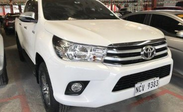 Selling White Toyota Hilux 2018 in Quezon City