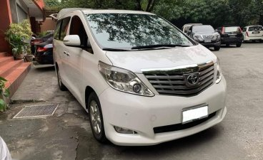 Pearl White Toyota Alphard 2011 for sale in Manila