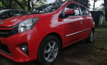 Red Toyota Wigo 2017 for sale in Quezon