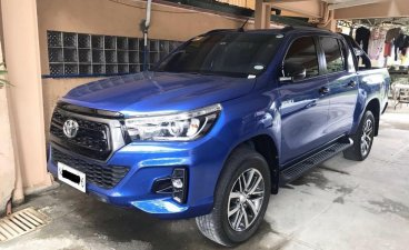 Blue Toyota Hilux 2019 for sale in Automatic