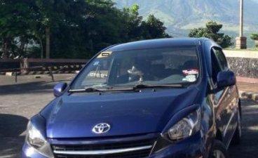 Blue Toyota Wigo 2016 for sale in Manual