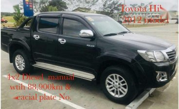 Black Toyota Hilux 2012 for sale in Manual