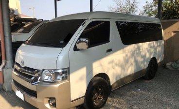 Selling Pearl White Toyota Hiace 2018 in Marilao