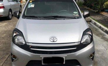 Silver Toyota Wigo 2015 for sale in Automatic
