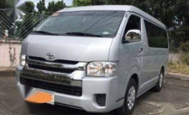 Silver Toyota Hiace 2017 for sale in Manila