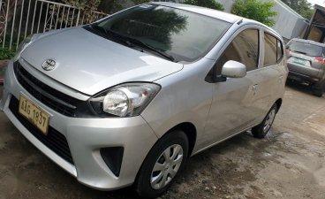 Silver Toyota Wigo 2015 for sale in Davao