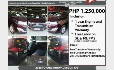 Toyota Innova 2020 for sale in Quezon City