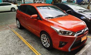 Selling Orange Toyota Yaris 2014 in Manila