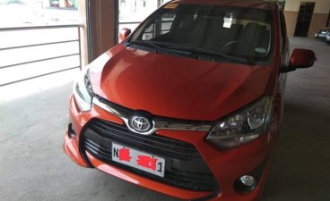 Orange Toyota Wigo 2019 for sale in Magalang
