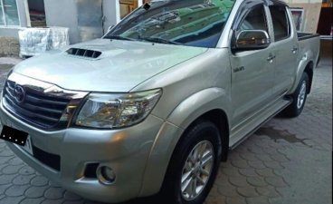 Silver Toyota Hilux 2014 for sale in Tacloban City