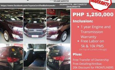 Sell Black 2020 Toyota Innova in Pasig City